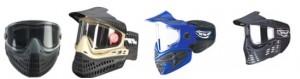 cuatro máscaras de paintball